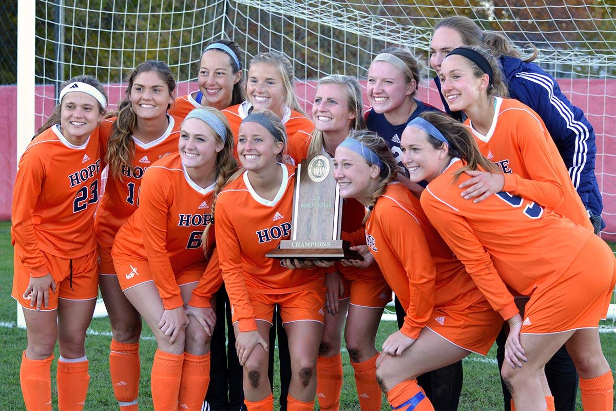 Hope Women's Soccer MIAA Champs